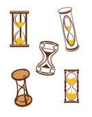 Přesýpací hodiny symboly — Stock vektor