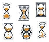 Símbolos de reloj de arena — Vector de stock