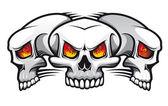 Evil skulls — Stock Vector