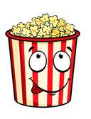 Cartoon popcorn — Stock Vector