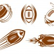 Rugby and football mascots - Stock Vector