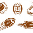 Royalty-Free Stock Vektorgrafik: Rugby and football mascots