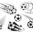 Football and soccer symbols and mascots - Stock Vector