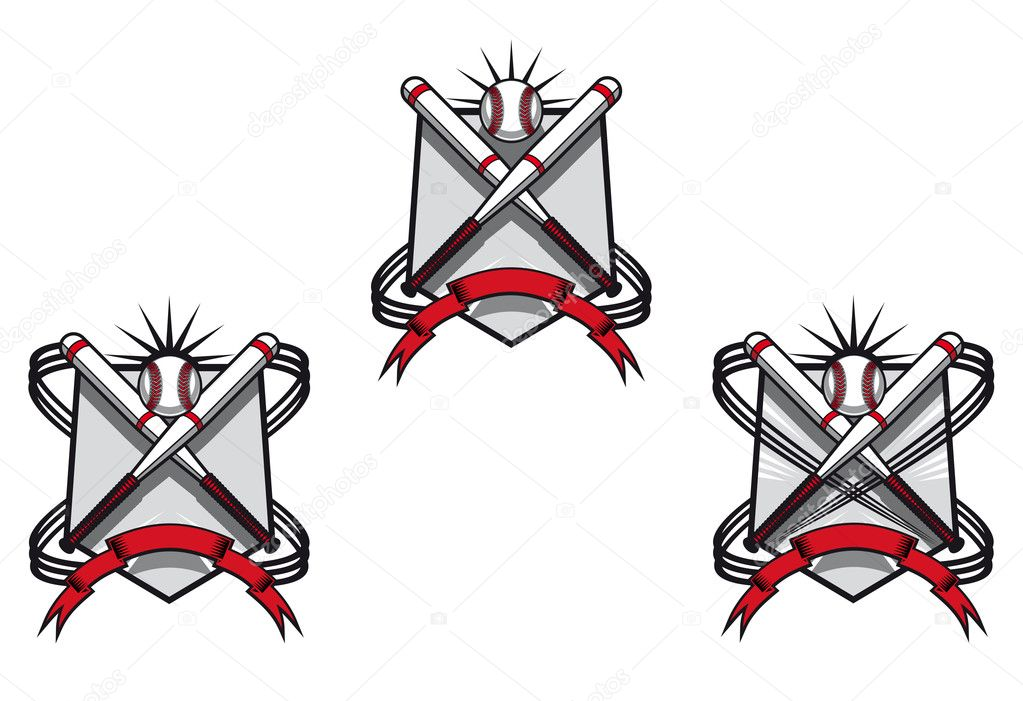 Baseball emblems set for sports design or mascot  Stock Vector #5745124