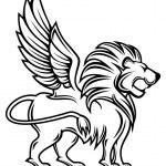 Heraldic lion — Stock Vector #5800992