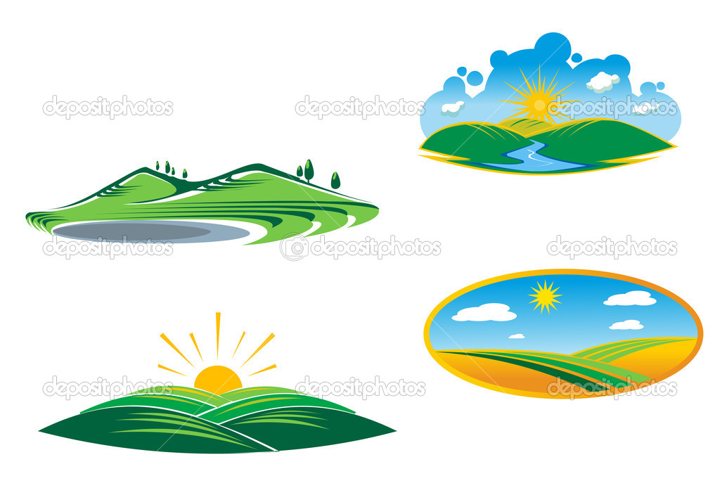 Ecological and nature symbols isolated on white — Stock Vector #5800988