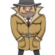 Detective agent or spy man — Stock Vector