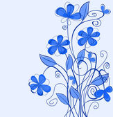 Blue floral background — Stock Vector
