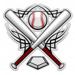 Royalty-Free Stock Vector Image: Color baseball emblem