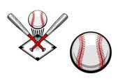 Baseball emblem — Stock Vector