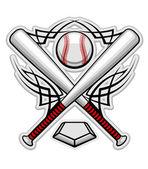Color baseball emblem — Stock Vector