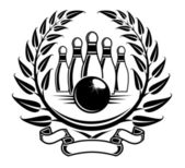 Bowling symbol — Stock Vector