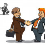 Businessman meeting — Stock Vector