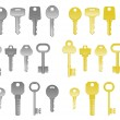 House keys — Stock Vector