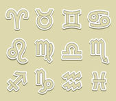 Horoscope symbols — Vector de stock