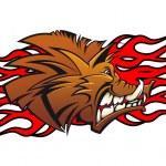 Wild boar cartoon — Stock Vector