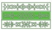 Ornamenti celtici — Vettoriale Stock
