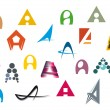 Royalty-Free Stock Vector Image: Alphabet letter A