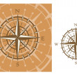 Stock Vector: Medieval compass