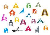 Alphabet letter A — Stock Vector