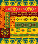 Ethnic patterns and ornaments — Stock Vector
