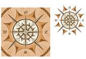 Medeltida kompass — Stockvektor