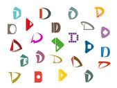 Alphabet letter D — Stock Vector