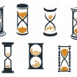 Hourglass symbols — Stockvectorbeeld