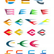 Royalty-Free Stock Vector Image: Alphabet letter E