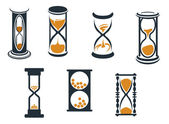 Hourglass symbols — Stock Vector