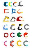 письмо c об алфавите — Cтоковый вектор