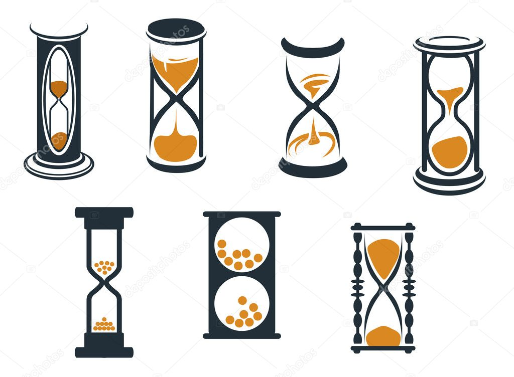 Hourglass symbols and icons for time concept and design  Stock Vector #6182764