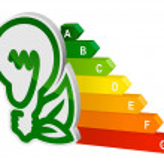 Energy efficeincy graph — Stock Vector
