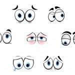 Cartoon funny eyes — Stock Vector