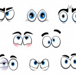 Cartoon funny eyes - Stock Vector