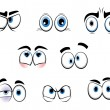 Stock Vector: Cartoon funny eyes