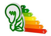 Energie efficeincy grafiek — Stockvector