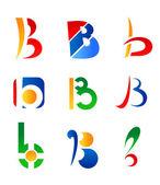 Letter B symbols — Stock Vector