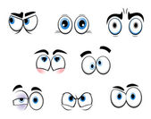 Cartoon funny eyes — Stock Vector