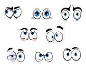 Grappige cartoon ogen — Stockvector