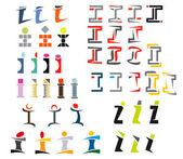 Alphabet letter I — Stock Vector