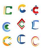 Letter C symbols — Stock Vector
