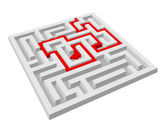 Labyrinth - maze puzzle without exit — Stock Vector