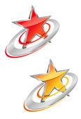 Glossy star — Vector de stock