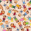 Boys and girls seamless pattern - Image vectorielle