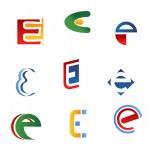 Letter E symbols — Stock Vector #6492968