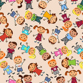 Boys and girls seamless pattern — Stockvector