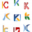 Alphabet letter K — Stock Vector #6638022