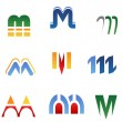 Alphabet letter M — Stockvectorbeeld