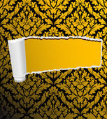 Damask seamless background with hole — Stock Vector